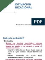 MOTIVACIÓN ORGANIZACIONAL