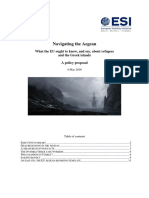 ESI - Navigating the Aegean - EU Reporting on Refugees - 4 May 2016