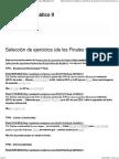 Selección de Ejercicios (de Los Finales v2.0) _ Análisis Matemático II