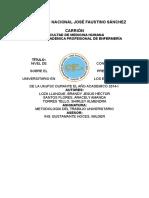 Nivel de Coggnocimiento Del Estudiante Universitario Sobre El Presuesto de La UNJFSC 2014
