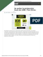 5 Maneras de Quitar La Protección Contra Escritura de USB