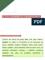 El Ciclo Biogenético o Biogeoquímico