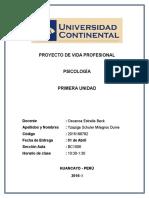1ra UNIDAD - PROYECTO DE VIDA PROFESIONAL - Psicología.docx