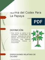 Norma Del Codex Para La Papaya
