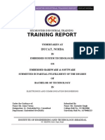 Embedded System Industrial Trainng Report