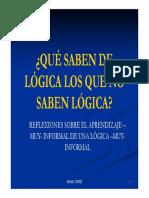 ¿Que Saben de Logica (1)