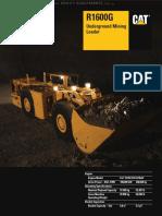 Catalog Caterpillar r1600g Underground Mining Loader