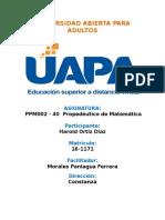 Tarea 1 PROPEDEUTICO DE MATEMATICAS