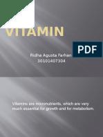 Vitamin Ppt Ridha Agusta