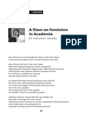 A Slam on Feminism in Academia by Shaunga Tagore | Social
