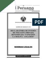 Acuerdo Concejo 1273 2014 MML-Declaratoria Conexion LaMolina Angamos