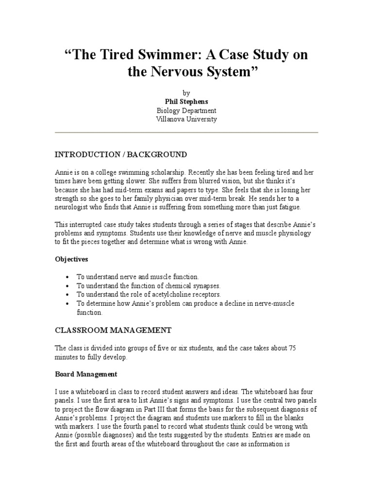 The Tired SwimmerCase Study | Neurobiology | Neurology
