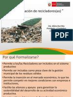 Formalizacion d Recicladores