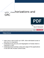 SAP Roles and Authorizations