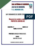 Memoria de Revisión y Análisis Del Proyecto de Edificio 3_unlocked