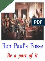 Ron Paul Posse _11'' x 11''
