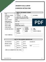 Exam Vett Form