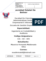 Mauricio Maldonado, Contabilidad y Auditoria, Comentario de La Lectura