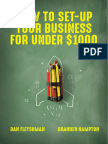 How to Set Up Your Business for Under $1000