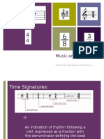 time signatures and fractions