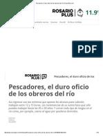 Pescadores, El Duro Oficio de Los Obreros Del Río