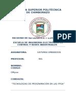 Tecnologías de Programación en Las Fpga