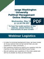 GW Online Political Management May 19th Webinar