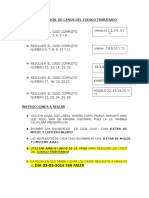 Distribucion de Casos Del Codigo Tributario