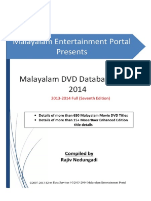 Malayalam DVD Database 2013-2014 Full pdf | Cinema da Índia