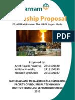 Internship Proposal Pt. Antam (Persero) Tbk. Ubpp Logam Mulia
