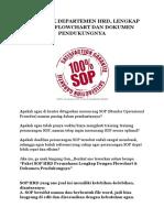 SOP HRD Perusahaan