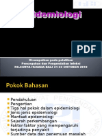 Epidemiologi  HAIs..