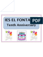This year we celebrate our tenth anniversary