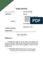 Biana vs. Gimenez. Moral Damages Case G.R. No. 132768