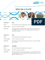 Kew on a Plate - Extras Summary