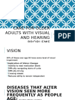 Care for Older Adults With Visual and Hearing