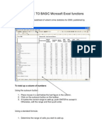 QUICK GUIDE to BASIC Microsoft Excel Functions