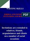 WRITING Skills Invitations