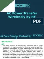 AC Power Transfer Wirelessly by HF