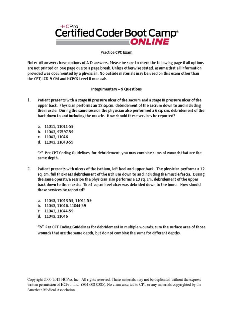 module 17 practice cpc exam pdf artificial cardiac pacemaker surgery rh scribd com