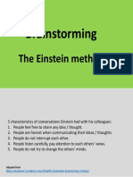 Brainstorming - the Einstein method