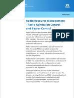 Telecom Whitepaper Radio Resource Management Radio Admission Control Radio Bearer Control 0113 1
