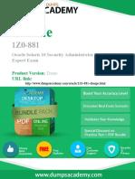 1Z0-881 Exam Preparation Material