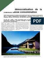 Democratisatuon Maison Basse Conso in Maison Positive n10