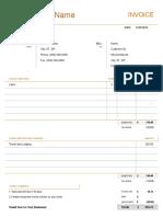 Consultant Invoice