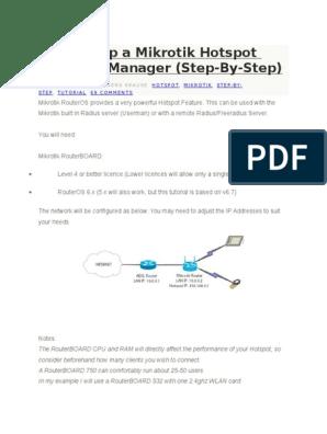 Setting Up a Mikrotik Hotspot With UserManager   Ip Address