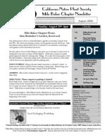 Milo Baker Chapter Newsletter, August 2004 ~ California Native Plant Society