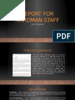 report for aardman staff