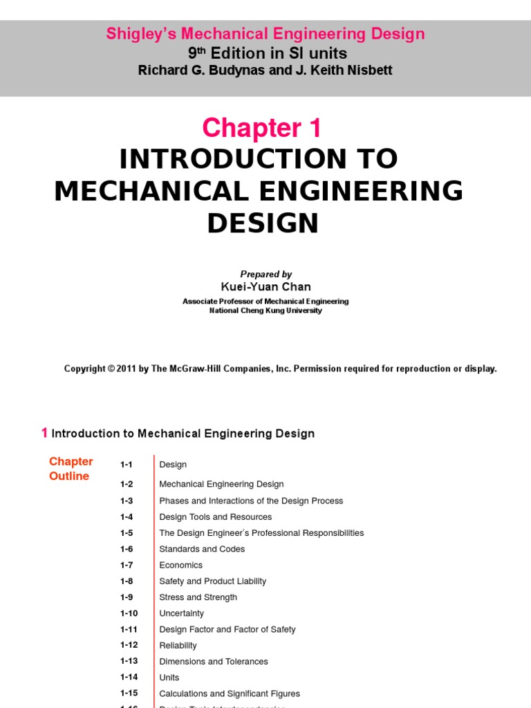 Machine Design Chapter 1 Engineering Tolerance Strength Of Materials