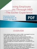 Improving Employee Relations Through HRD